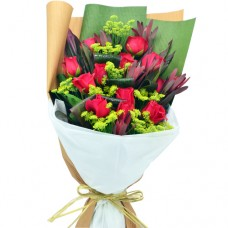 12pcs RED Roses Valentine Bouquet