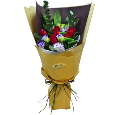 Half Dozen Red Roses Bouquet (Self-Pickup Only)
